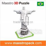8PCS mini world architecture 3d puzzle Statue of Christ the Redeemer