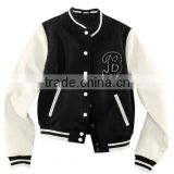 winter jacket custom black and white varsity jacket wholesale