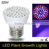 Full Spectrum 5W E27 41 Red + 19 Blue LED Grow light AC 85 - 265V LED Grow Lamp For Flower Plant Hydroponics System & Bo