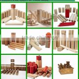 wooden kubb,,kubb game set for garden game