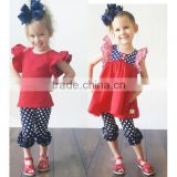 2016 wholesale girls fashion sets fashion patriotic sew sassy design kids outfit                                                                         Quality Choice