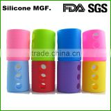 Glass Baby Feeding Bottle Sleeve Silicone Bottle Cover Protect Insulating