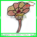 Beautiful lotus design embroidery chenille patch towel embroidery patch