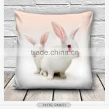 high quality fashion cute rabbit design 3d digital print pillowcases fullprint decorative throw pillow covers seat cushion Cover