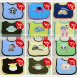 "2014 New Sale Cotton Baby Bib Infant Saliva Towels Baby Waterproof Bib Cartoon Lovely Baby Wear With Different Model ""11"""