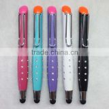 Factory Heavy New Crystal Pen Touch Multi Color Stylus Pen Inlayed with Clear Blink Diamond