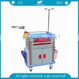 AG-ET011A1 Emergency movable ABS material hospital trolley for sale