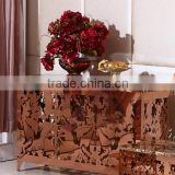 luxury antique lobby gold console table