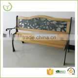 B-15006 Modern outdoor bench wood slats cast iron leg PVC backrest sit chair park bench/work bench antique wooden garden bench