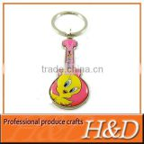 cute guitar key chain with customised made in china