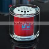 China factory transparent LED lighting mini speaker, promotion gift portable mini speaker with custom logo printing