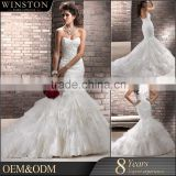New arrival product wholesale Beautiful Fashion dot tulle fabric white bodice bridal hundred percent wedding dress shop                                                                         Quality Choice