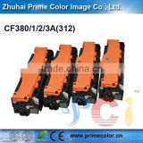 Laser printer toner cartridge for HP CF380/1/2/3A(312) with Chip