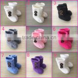 Wholesale handmade crochet baby booties knitted baby shoes newborn baby shoes                                                                         Quality Choice