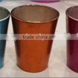 Ceramic shots or glass with pearl finish coating