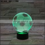 custom made 3D Illusion Lamp Acrylic LED Night Light world cup football shaped sensor night light for kids