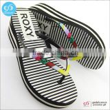Guangzhou factory new summer fashion high heel lady flip flops slippers                                                                         Quality Choice