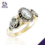 Fashion jewelry custom design silver discount class rings