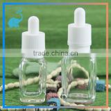 15/30ml glass dropper bottles square glass bottles for eliquid with childproof tamper evident caps