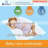 Leak guard soft and breathable disposable super absorbent blue diffusion layer baby care pads