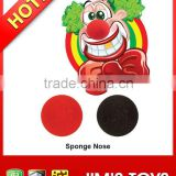 Red sponge clown nose clown toy