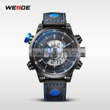 2016 Wholesale WEIDE Brand Fashion Backlight Leather Quartz Watch