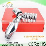 HOT!!! handheld massage roller V shape magnetic massage body roller