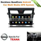 10.1inch Quad Core Android car radio gps stereo system for nissan teana car dvd navigation with wifi 3g mirror link