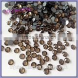 Smoked topaz crystal iron-on strass for ladies shoes from China manufacturer sample free