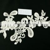 Hot sale elegant embroidery lace fabric for wedding dresses factory