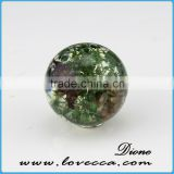 Europe and america market popular design hot jewelry resin flower necklace resin flower glass ball