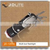 Multi tool plastic portable cutting torch led flashlight with hammer & seat belt cutter