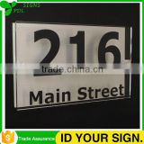 High Quality Custom Acrylic House Number Plaque