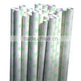 Dot Light Green Mint Party Paper Straws/ Dots Spotted Spotty Spots Spot Polkadots Polka Dot Paper Straws in 33 Colors