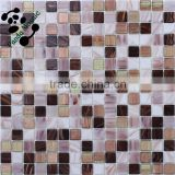 SMH12 Environmentally-friendly glass brick Nature glass mosaics with gold glass Iridescent glass tile mosaic
