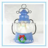 Resin Angel Figurine in Crystal Ball Lamp Shape Craft for Home Decoration