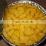 canned yellow peach irregular diced