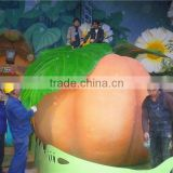 Shanghai World Exposition halloween decorative cheap 2m height Artificial huge costume fruits orange white pumpkin EC08 0408