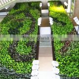 Home and outdoor decoration synthetic cheap artificial vertical green grass wall E08 04B18
