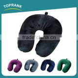 Toprank Wholesale Custom Soft Short Plush Neck Cushion Microbead Pillow Airplane U Shape Travel Neck Pillow