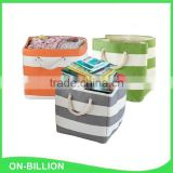 Household square foldable paper cloth magazine storage basket