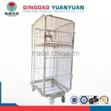 Hot selling collapsible pallet box, metal pallet storage cages, welded wire mesh box storage cage