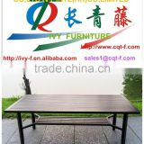 Square outdoor used cast polished aluminum table
