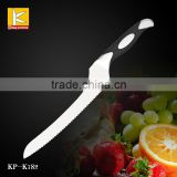Germany steel 1.4116 winding bread knife with G10 handle black /red