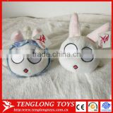 Funny lovely big eyes rabbit plush toy mobile phone holer