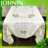 hot selling wholesale customized plain color embroidery table cloth