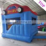 TOP INFLATABLES Professional baby bouncer swing train castle giant inflatable water slide