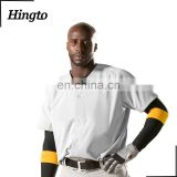 High quality oversize full buttonsplain baseball jersey / blank baseball jersey wholesale white black grey color