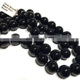 12mm Natural round plain black onyx round beads loose gemstone beads loose beads for making jewelry