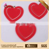 BSCI Promotional High quality customized plastic heart bookmark paper clip for kids